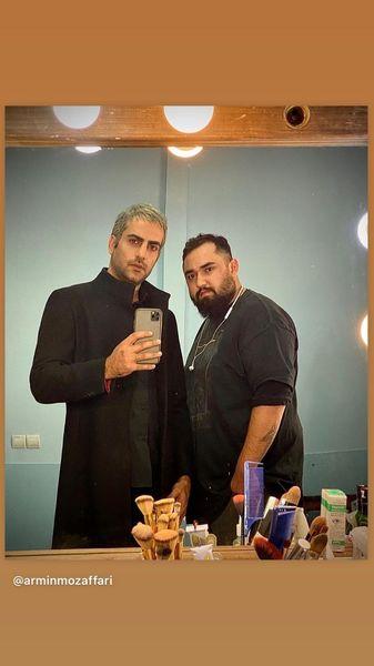حامد کمیلی در کنار دوستش + عکس