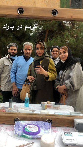 گریم شبنم قلی خانی در پارک + عکس