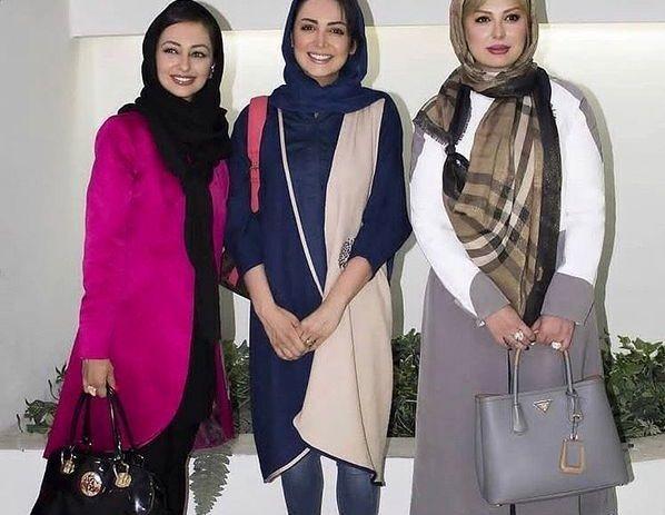 عکس سه خانم بازیگر زیبا و جوان با تیپ های رنگ و وارنگشان