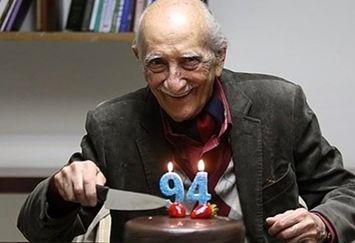 عکس تولد 94 سالگی داریوش اسدزاده