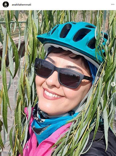 خانم بازیگری که دوچرخه سوارحرفه ای شده+عکس