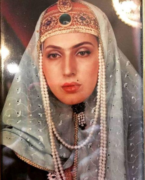 گریم زمان قاجاری فاطمه گودرزی در جوانی + عکس