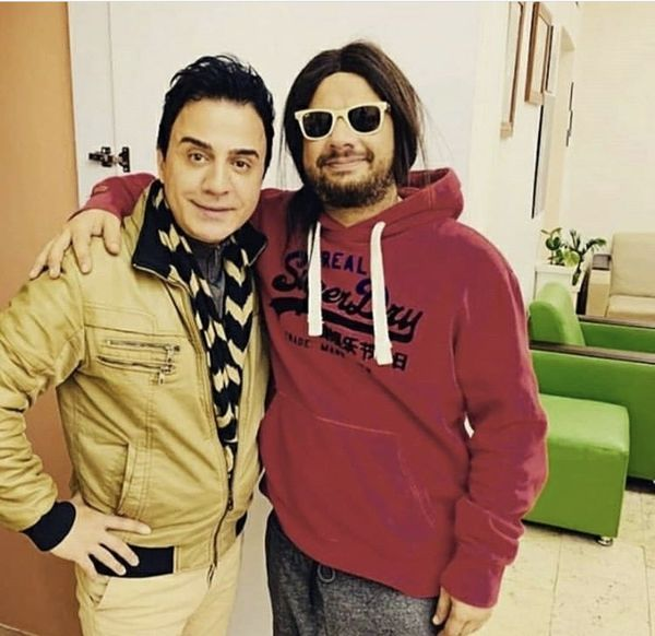 عموپورنگ در کنار علی صادقی مشهور + عکس