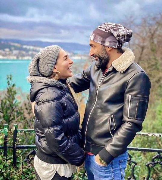 عاشقانه هایی از هادی کاظمی با همسرش + عکس