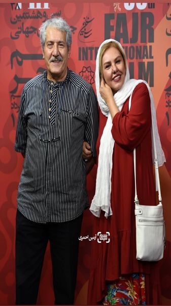 افسانه چهره آزاد و همسرش در مراسم بین المللی فیلم فجر + عکس