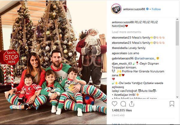 تصاویر ستاره های فوتبال در جشن کریسمس
