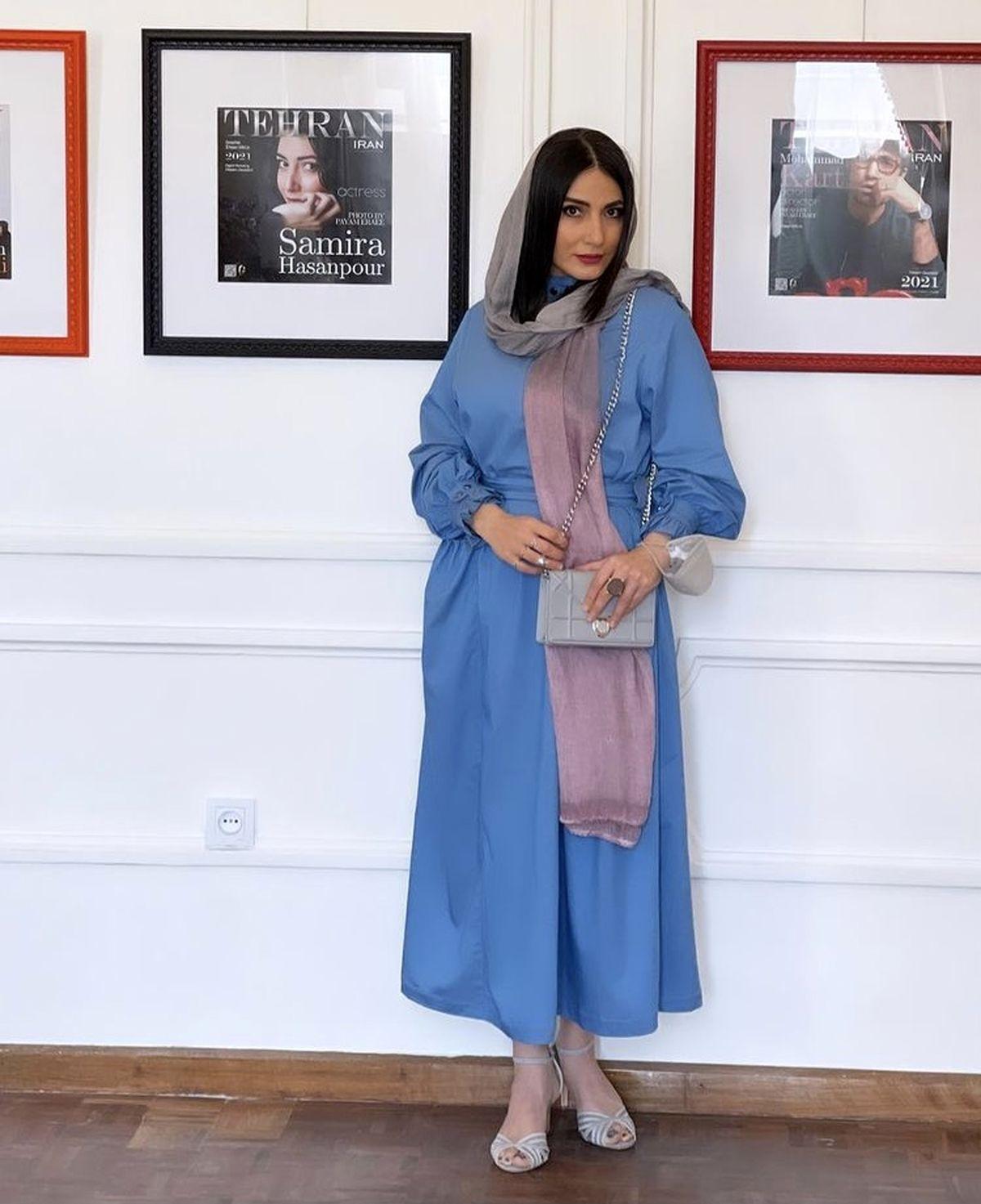 سمیرا حسن پور در یک گالری عکاسی + عکس