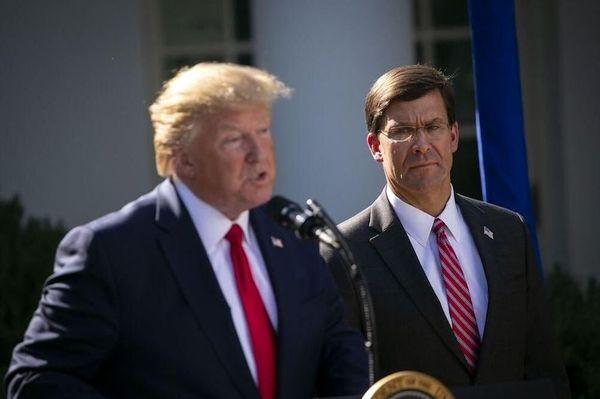 تصمیم ترامپ به اخراج رییس پنتاگون