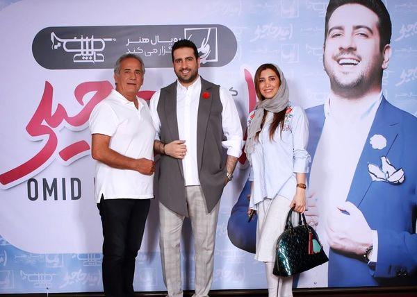 مجید مظفری و دختر بازیگرش در کنسرت حاجیلی+عکس