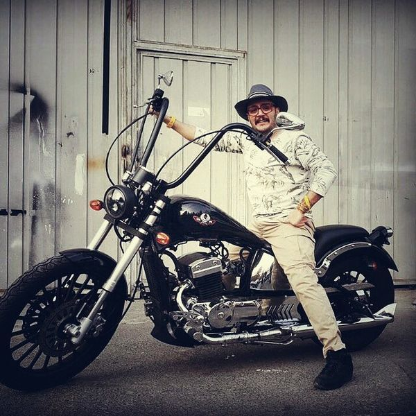 موتور سیکلت خفن بازیگر جوان + عکس