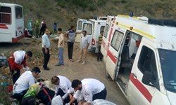برخورد مرگبار تریلی با مینیبوس در یزد