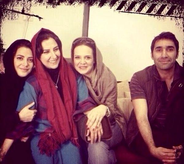 هادی کاظمی در کنار بازیگران زن معروف + عکس