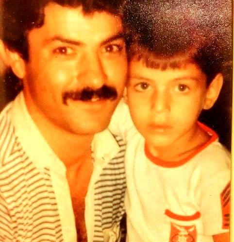 فریبرز عرب نیا و پسرش در کودکی + عکس