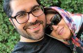 عکس حامد همایون و مادرش در آمریکا