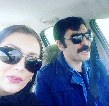 ماشین گردی رویامیرعلمی و همسرش+عکس