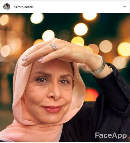 وقتی خانم مجری پیر میشود+عکس
