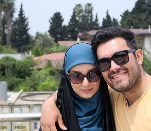 مژده خنجری و همسرش + عکس
