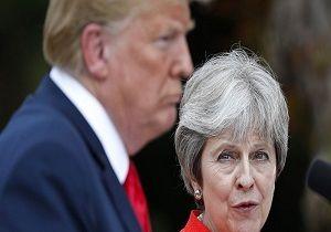 ترامپ از ترزا می به علت مواضع انگلیس در قبال ایران انتقاد کرد