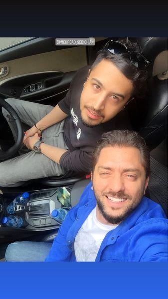 سلفی بهرام رادان در ماشین مهرداد صدیقیان + عکس