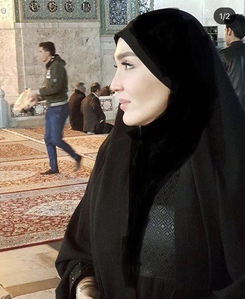 زهره فکور صبور در زیارت + عکس