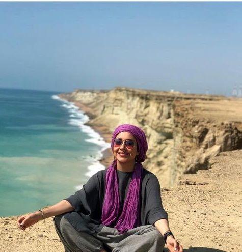 عکس زیبا و دیدنی بهاره کیان افشار لب ساحل