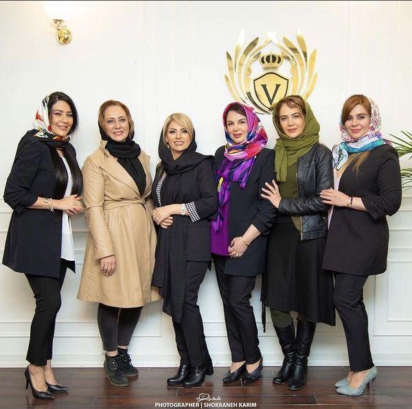 خواهران سینمای ایران در سالن زیبایی + عکس