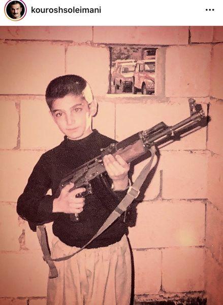 بازیگری که در کودکی اسلحه داشت + عکس