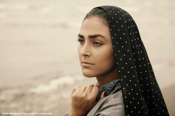 هدی زین العابدین لب دریا+عکس