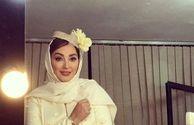 عکس با لباس عروس الهام حمیدی