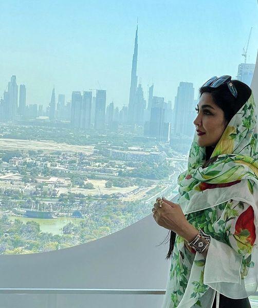 مریم معصومی در یکی از برج های دبی + عکس