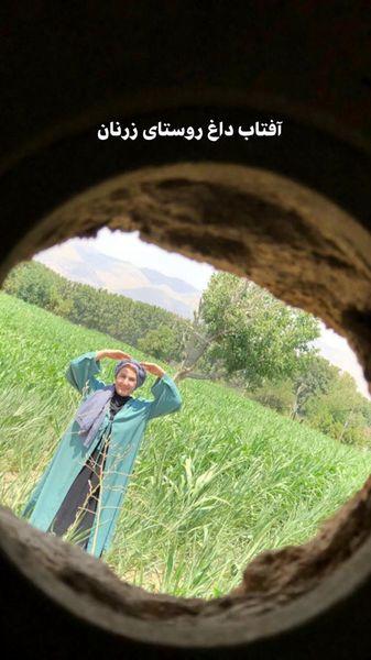فاطمه گودرزی در آفتابی سوزان + عکس