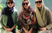 خانم بازیگر خارجی کنار بازیگران ایرانی+عکس