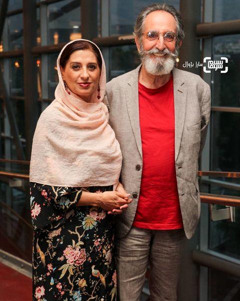 عکس فرهاد آئیش و همسرش در پردیس ملت