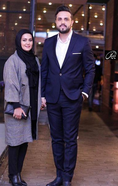 تیپ رسمی پدرام کریمی و همسرش + عکس