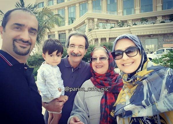 نیما کرمی و خانواده اش در گشت و گذار + عکس