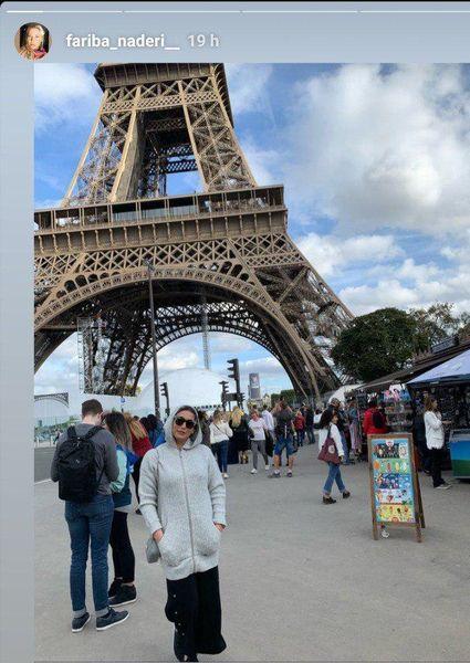 گردش بازیگر بدجنس ستایش در پاریس+عکس