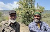 نیما فلاح و دوستش در دل طبیعت + عکس
