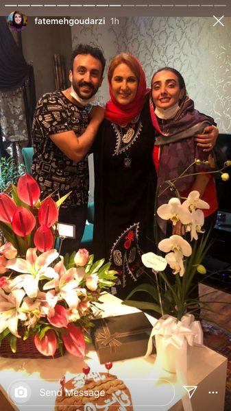 فاطمه گودرزی در کنار پسر و عروسش + عکس