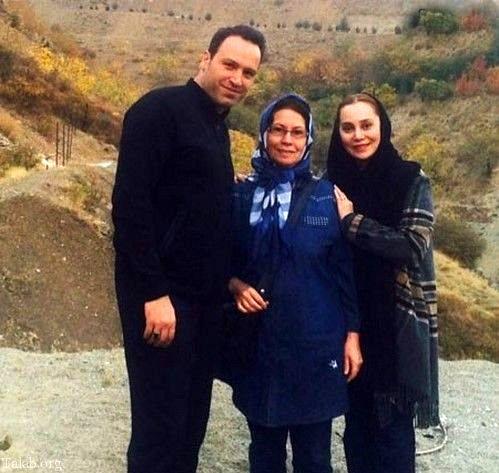 گردش آرام جعفری با مادر و همسرش در طبیعت خاص!+عکس