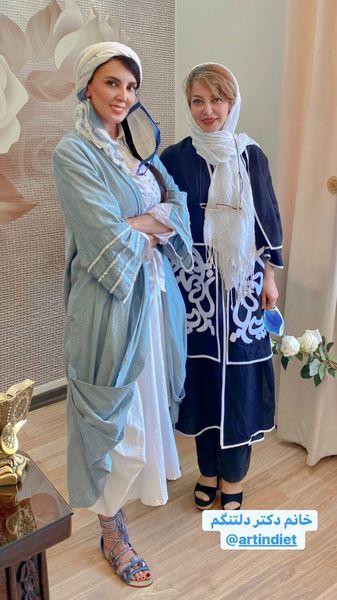 دوست استقلالی پوش خانم بازیگر + عکس