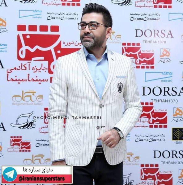 تیپ اسپورت فرزاد حسنی در جشن آکادمی سینما سینما+عکس
