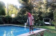 عکس خانم بازیگر لب استخر
