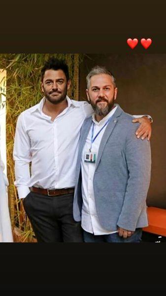 گلزار در کنار یکی از دوستان خوش هیکلش + عکس