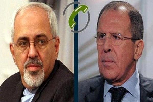 رایزنی تلفنی وزیران امور خارجه جمهوری اسلامی ایران و روسیه