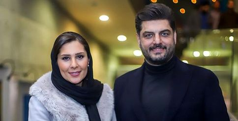 «سام درخشانی» همراه همسرش در جشنواره فجر