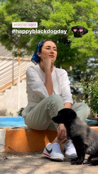 سگ بانمک بهاره افشاری + عکس