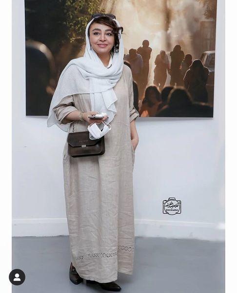 همسر جواد عزتی در یک مراسم + عکس