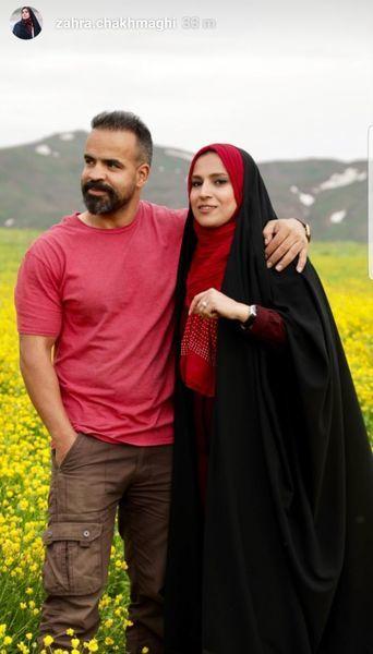 عاشقانه های خانم مجری و همسرش در دل طبیعت + عکس