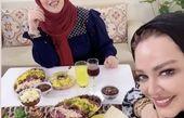 بهاره رهنما میهمان خانه دوستش شد + عکس
