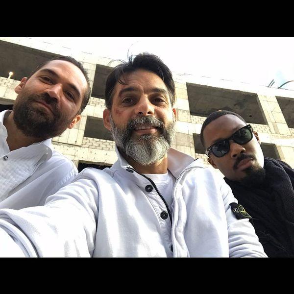 پیمان معادی کنار بازیگران هالیوودی